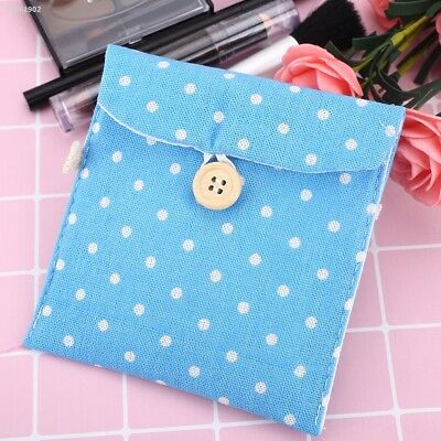 BF04396 Lady Linen Sanitary Napkin Towel Pad Small Mini Bags Case Pouch Holder
