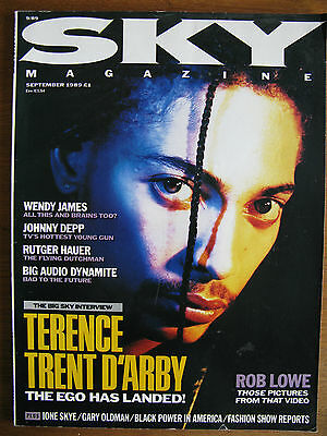 Sky Magazine Sep1989 Terence Trent D'Arby/Big Audio Dynamite/Rutger Hauer/Depp