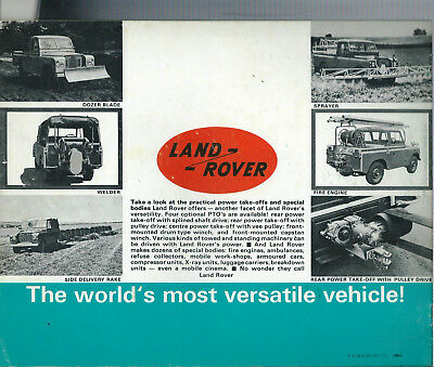 ORIGINAL LAND ROVER 12 PAGE LATE 1960S EARLY 1970s AUSTRALIAN BROCHURE