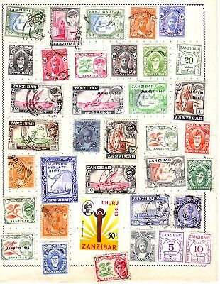 OLD AFRICA * INDIAN OCEAN of ZANZIBAR  MINT & USED  == 35 == 1 PAGE UNSORTED