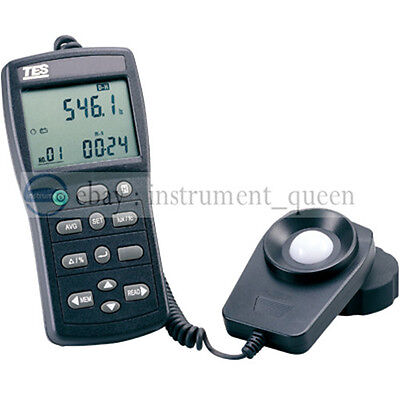 TES-1339R Data Logger Light Meter Tester 0.01 to 999900 Lux PC Data Record