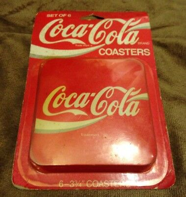 Vintage Coca-Cola Plastic and Cork Backed Drink Coasters New In Box