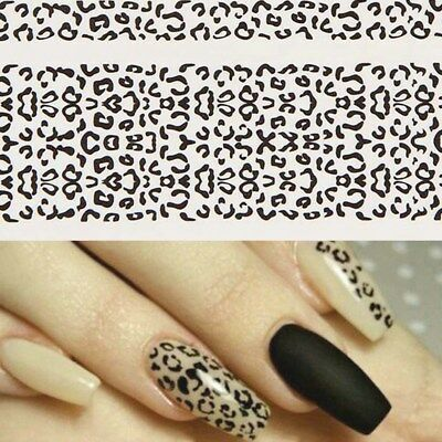 Flower Lace Nail Art Water Transfer Stickers Nail Tips Decals Manicure