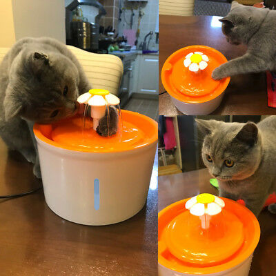 Upgrade Automatic Electric Pet Water Fountain Dog Cat Bowl Drinking Dish Filter