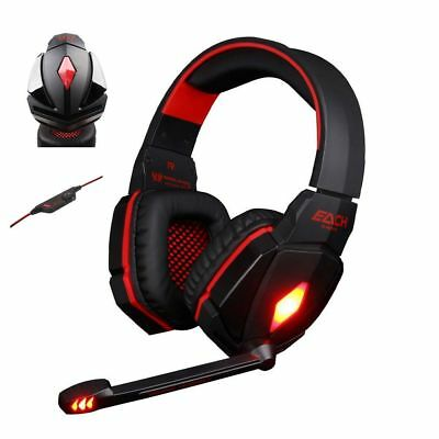 Led Lampe Casque Gaming Pour Pc Xbox One Stereo Gamer Avec Micro