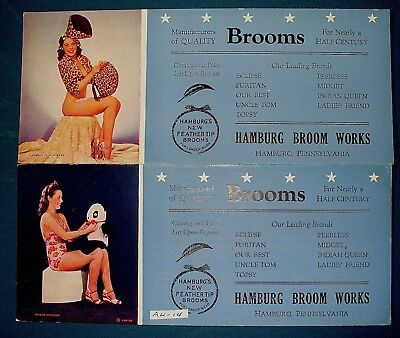 pin-up girl advertisement blotters Hamburg PA Broom Works