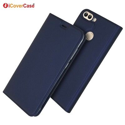 Ultra-thin PU Leather Flip Wallet Case Stand Cover For Huawei P smart