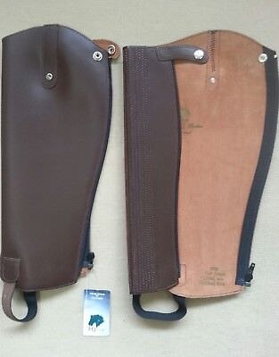 """English Gaiter Company Leather Gaiters, Size Length 16""""' Calf 12""""/13"""", Brown"""