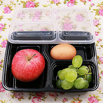 10Pcs Meal Prep Food Containers Microwave BPA Free Plastic Lunch Box Lids