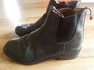 Dublin black leather mens riding boots size 8
