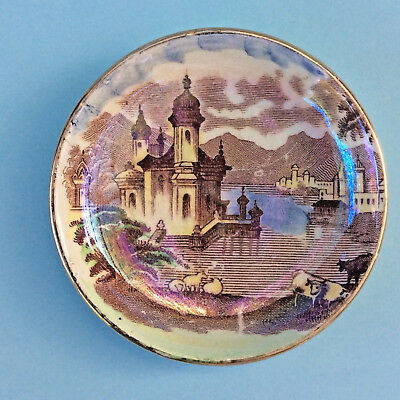 VINTAGE MALING PIN TRINKET DISH England Newcastle on Tyne Venice Scene Miniature