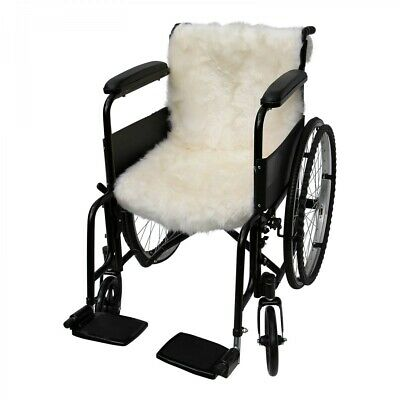 Lambskin - Wheelchair Pad Dekubitusschutz Seat Cushion Merino Sheepskin