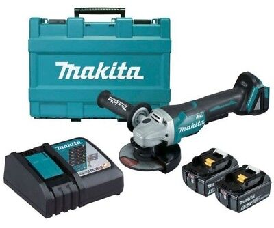 Makita CORDLESS BRUSHLESS ANGLE GRINDER DGA508RTE 125mm 18V 5Ah+Battery &Charger