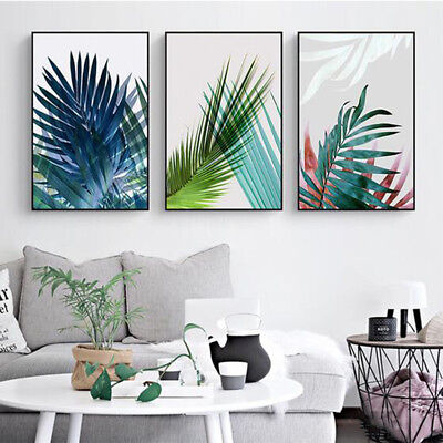 Nordic Plant Leaf Canvas Wall Painting Poster Hotel Home Decor Unframed Faddish