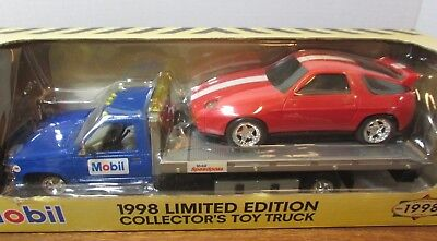 MOBIL1998 limited edition collectible truck die cast tow truck/w car 1/24 scale