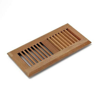 4X14Inch Santa MahoganyVent Self Rimming Floor Register Cover Grille Unfinished