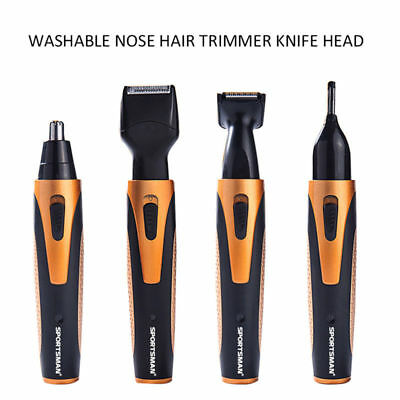 4 in 1 Rechargeable Hair Mustache Beard Eyebrow Ear Nose Trimmer Electric Shaver