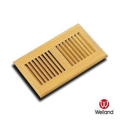 Vent Floor Register Self Rimming Unfinished,6x10 Inch,Santos Mahogany,by WELLAND