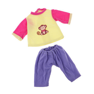 Doll Accessory Colorful Top & Pants Set for 18inch American Girl Dress 2pcs