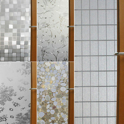 45*200cm Waterproof Privacy Frosted Adhesive Bathroom Window Film Glass Sticker