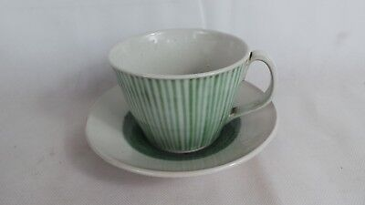 Vintage Rye Pottery Large Cup and Saucer