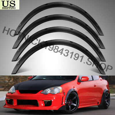 """Universal 4pcs PP 2""""/50mm Fender Flares JDM Over Wide Body Wheel Arches"""