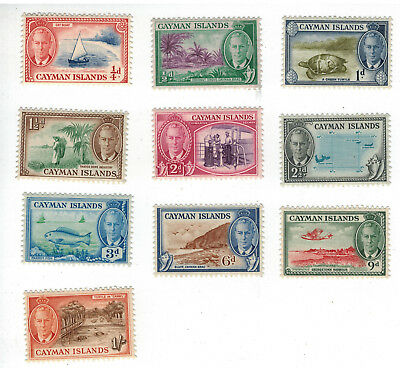 Cayman Islands, 1950, George VI – Island Scenes,10 stamps, MLH