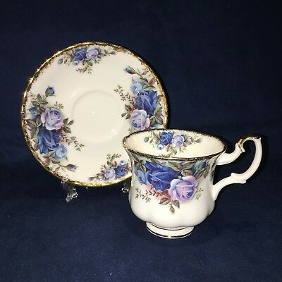 """Royal Albert Moonlight Rose, Bone China 1980's """"New"""" Coffee Cup and Saucer duo"""
