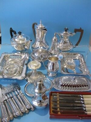 Really Lovely Large Job Lot of Antique & Vintage Silver Plated Items & Cutlery