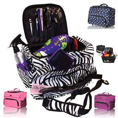Hairdressing Beautician Mobile Bag Hair Tool Case/Carry Strap Pink/Purple/Zebra