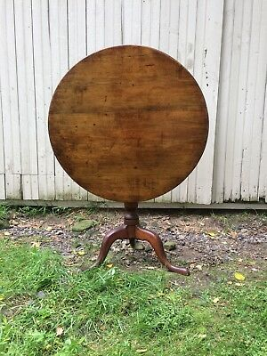 18th century queen anne country maple tilt top table