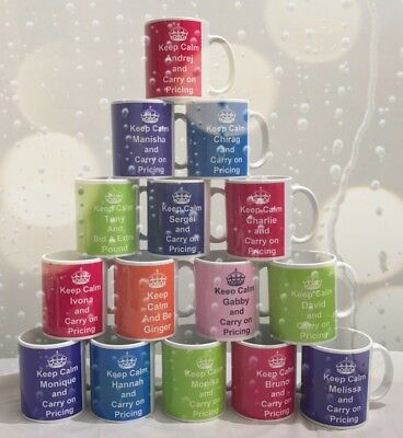 Personalised Keep Calm Mug Any Name Any Text Great Gift For Everyone 11 oz large
