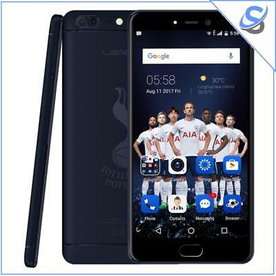 "LEAGOO T5 THFC Android 7.0 Phone 4GB+64GB 5.5"" 2.5D Screen 4G Dual SIM Blu"