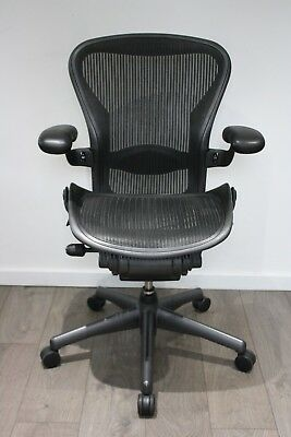 UK & EU Delivery | Herman Miller Aeron Chair | Fully Loaded | NEW Lumbar Support