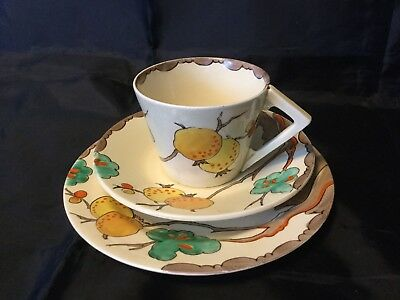 Clarice Cliff Passionfruit Cup/saucer/plate In Mint Condition Rare 1936