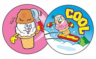 60 TREND Cool Cones (Chocolate) Scratch and Sniff reward Stickers n'
