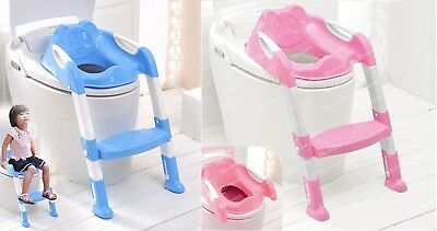 Teddie Baby Training Toilet Ladder Potty Seat With Steps SELECT Blue or Pink