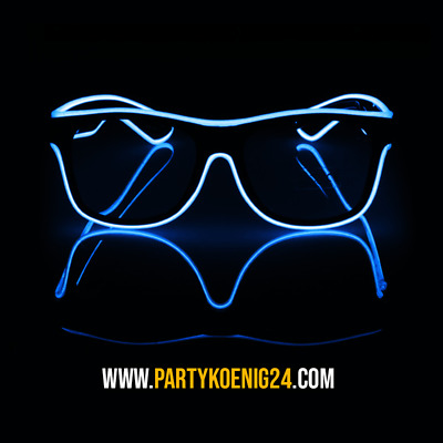 LED Brille Party El Wire leuchten Festival Rave Halloween Fasching Geschenk