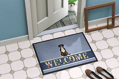 Greater Swiss Mountain Dog Welcome Indoor or Outdoor Mat 18x27