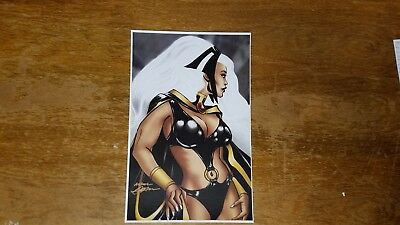 "Storm X-Men Art Neal Adams 11"" x 17"" Signed Print Marvel Comic Collectible TB1"