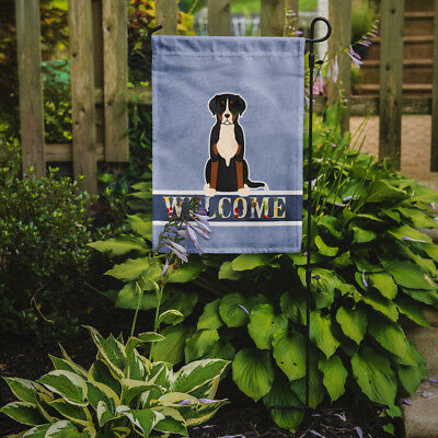 Greater Swiss Mountain Dog Welcome Flag Garden Size