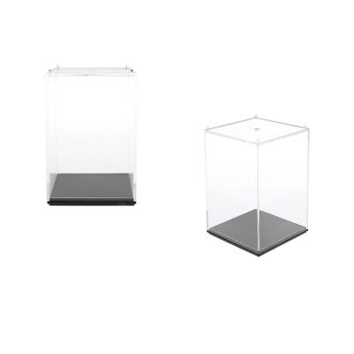 Pack of 2 Transparent Display Case Small Clear Show Box for Collectibles