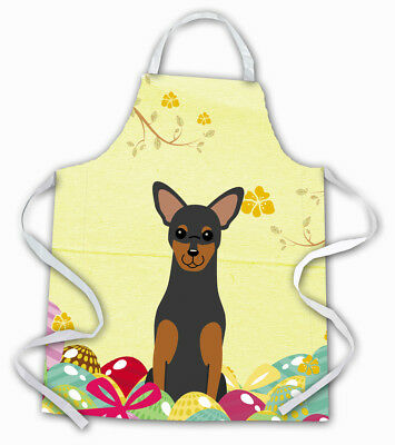 Carolines Treasures  BB6028APRON Easter Eggs Manchester Terrier Apron