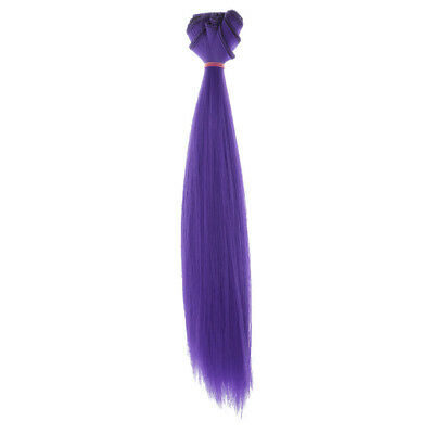 25cm Straight Hair Wig Synthetic Hair for 1/3 1/4 1/6 BJD Barbie Doll Purple