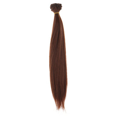 25cm Straight Hair Wig Synthetic Hair for 1/3 1/4 1/6 BJD Barbie Doll Copper