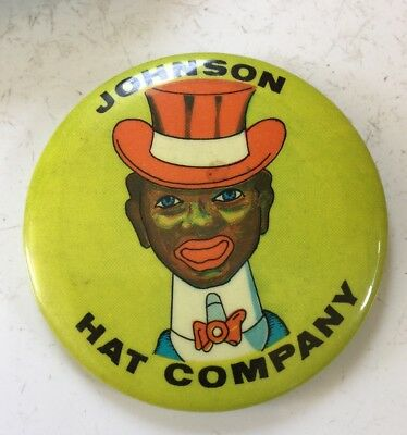 Vintage Johnson Hat Company Promotional Advertising Mirror Black Americana