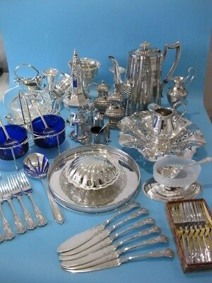 Very Nice Large Job Lot of Antique & Vintage Silver Plated Items & Cutlery