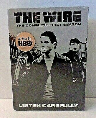 The Wire - The Complete First Season (DVD, 2004, 5-Disc Set) HBO TV Show SEALED*