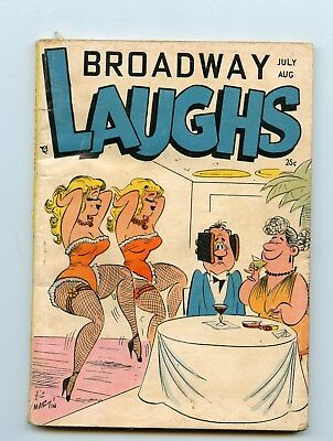 Broadway Laughs July August 1957  spicy cartoons