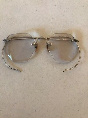 ATQ Childs Early Spectacles Silver GF Eyeglasses Glasses Octagonal Frameless